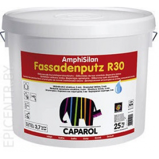 Штукатурка Caparol Amphisilan-Fassadenputz R30 world Weib